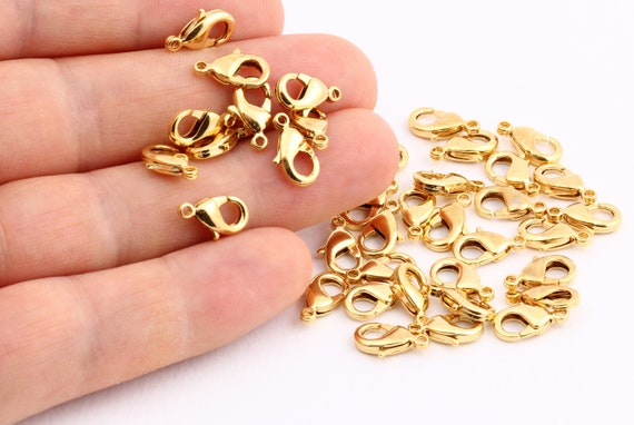 10 Pcs 16mm 24 k Shiny Gold Plated Lobster Clasp GLD1148