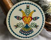 Vintage Folk Art Pennsylvania Dutch Hex Sign Barn Medallion-Jacob Zook