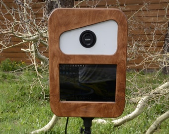 Open Air Photo Booth Kiosk (shell & strobe only) Vintage Style, real wood