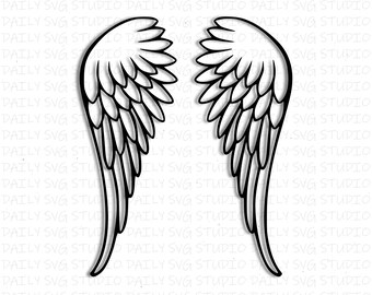 angel wings svg etsy