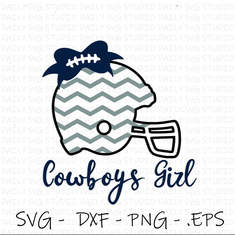 Football Helmet SVG Bow SVG Dallas Cowboys svg Cutfiles  5746fdd76