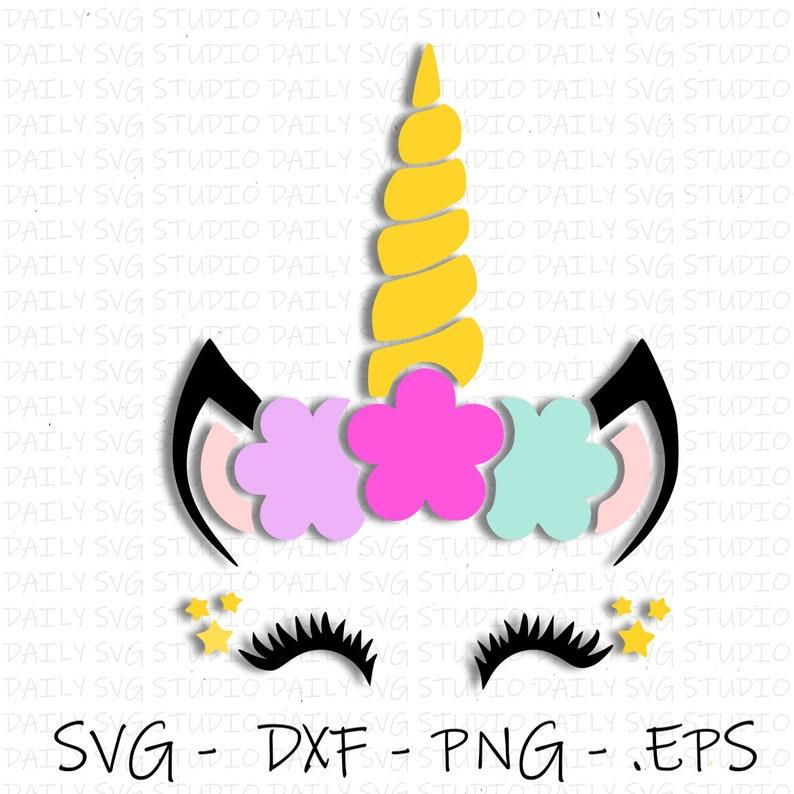 Unicorn Head SVG, Unicorn SVG, Unicorn Face SVG, Cute Unicorn svg Eps, dxf,  png, jpg, Digital Cut File For Silhouette and Cricut