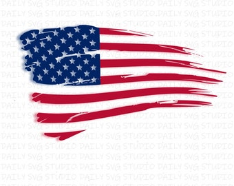 US Flag Svg, Distressed Flag SVG, American Flag svg, US flag clipart svg dxf png eps Files for Cutting Machines Cameo Cricut