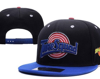 a8666e62 Black & Blue tune squad space jam snapback cap
