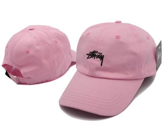 d5d9898720a Pink Stussy baseball cap