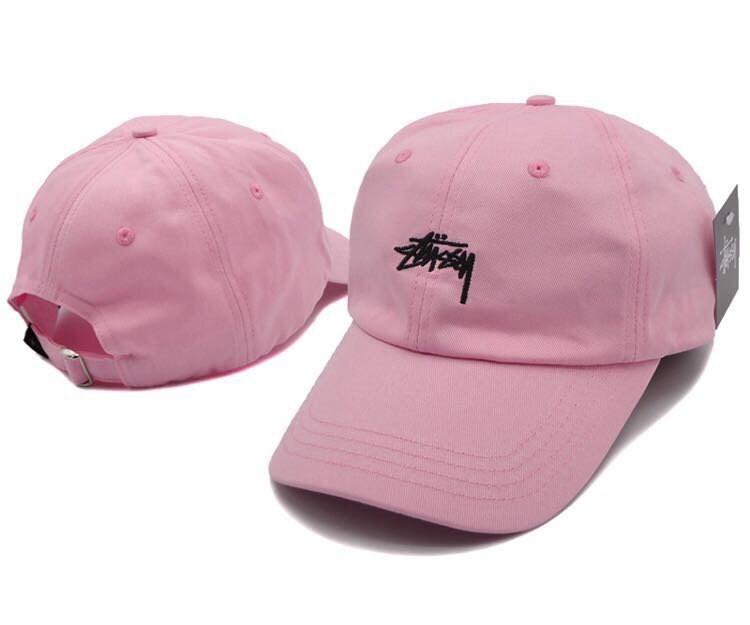 Pink Stussy baseball cap  25a32f2841e