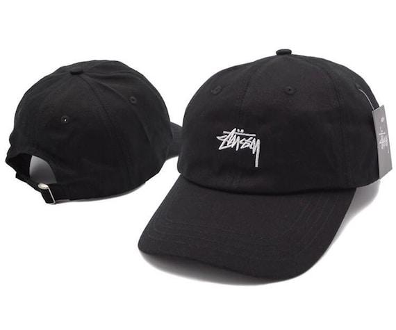 3ba4f6d1921c39 Black Stussy baseball cap   Etsy
