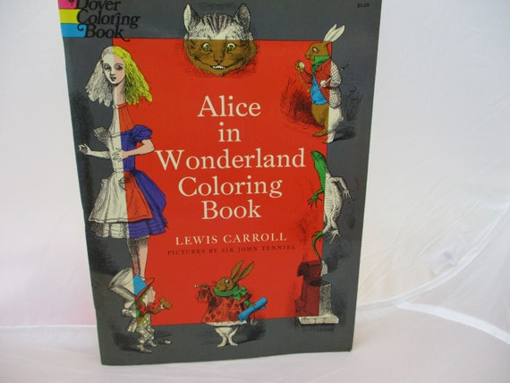 1972 Dover Coloring Book Alice in Wonderland Lewis Carroll | Etsy