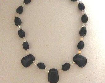 Black Onyx w/ crystal beads