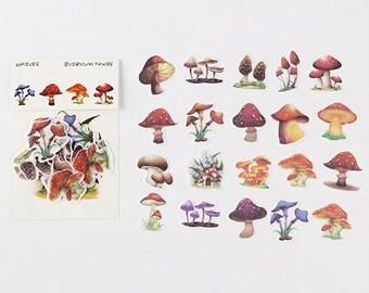 Paddestoelen stickers, 40 stuks
