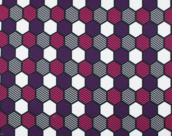 Honeycombs french terry. Crazy Shapes van Lycklig Design