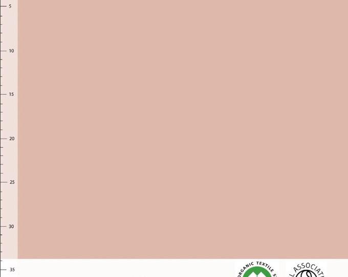 Biologische tricot stof. Elvelyckan Dusty Pink (009). GOTS biologisch
