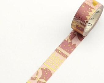 Washi tape met goud foil