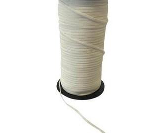 Wit elastiek, 3mm. Per 3 meter