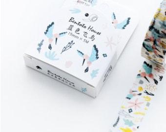 Washi tape met vogels en gold foil