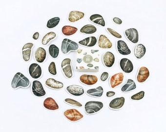 Stenen stickers, 40 stuks