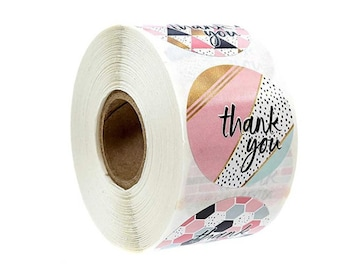Ronde Thank You stickers. Per 40 stuks.