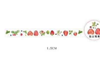 Plastic tape met aardbeien