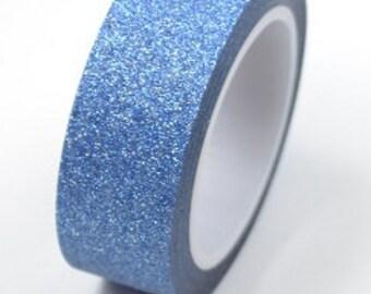 Blauwer glitter tape