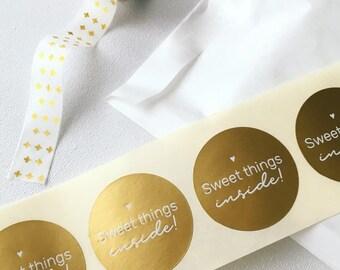 Sweet Things Inside stickers. 30 stuks