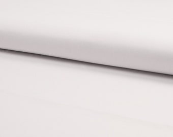 Anti-bacteriële witte katoen. Geweven stof. 100% katoen. Quality Textiles RS0325-050. Mondmasker stof, mondkapje stof