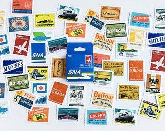Retro postzegel stickers