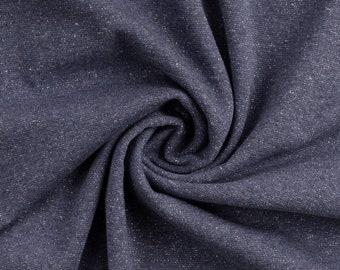 Jeans blauwe boordstof met lurex. Glitter stof