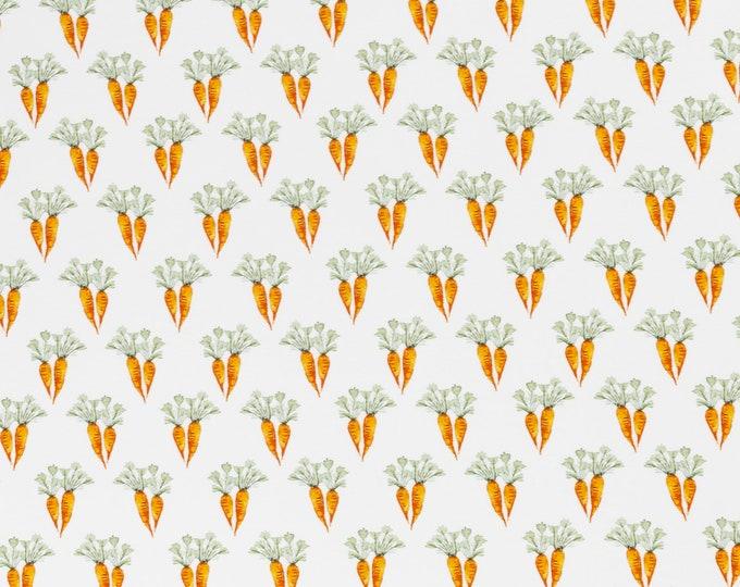 Wolwitte tricot stof met worteltjes