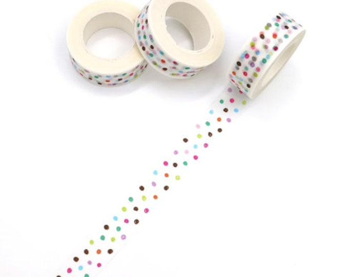 Washi tape met stipjes