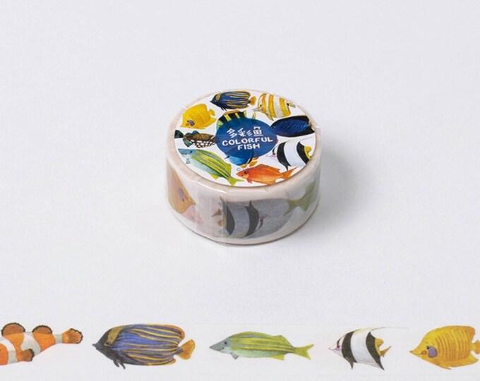 Washi tape met vissen. Visjes washi tape, washi tape, tropische vissen