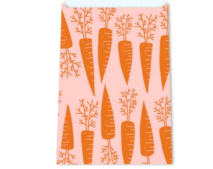 Kadozakjes met wortels. Gift bags. 5 stuks
