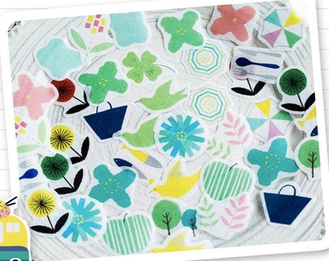 Bloemen stickers, 40 stuks