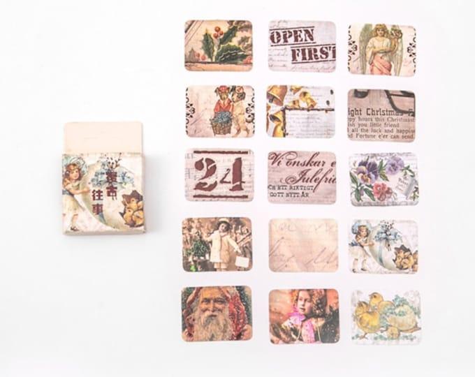 Kerst stickers, 45 stuks