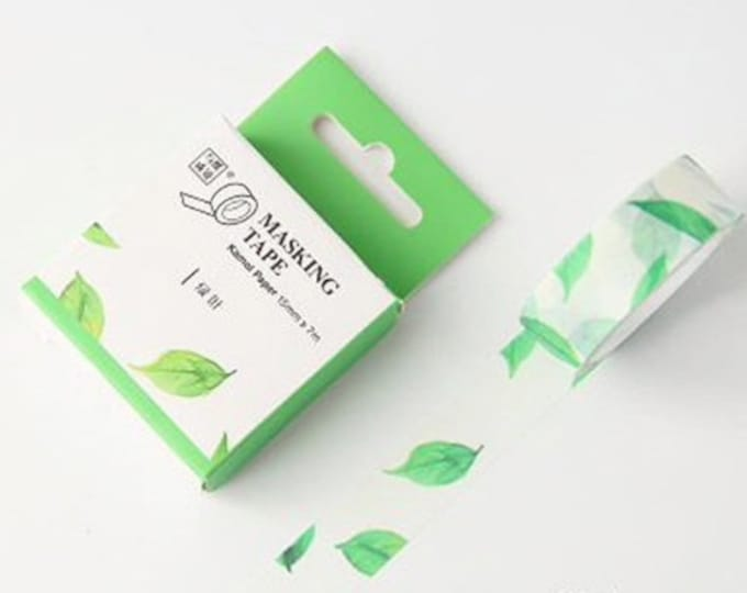 Washi tape met blaadjes. Bladeren washi tape, washi tape, groene blaadjes washi