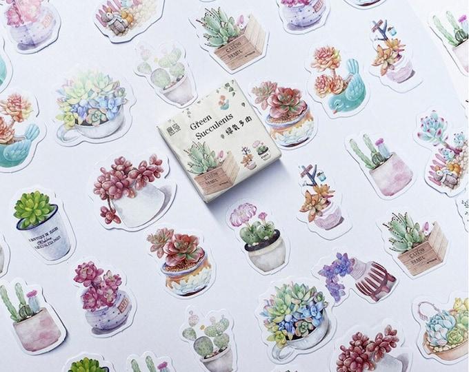 Planten stickers, 45 stuks