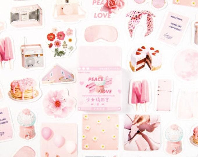 Roze zomer stickertjes