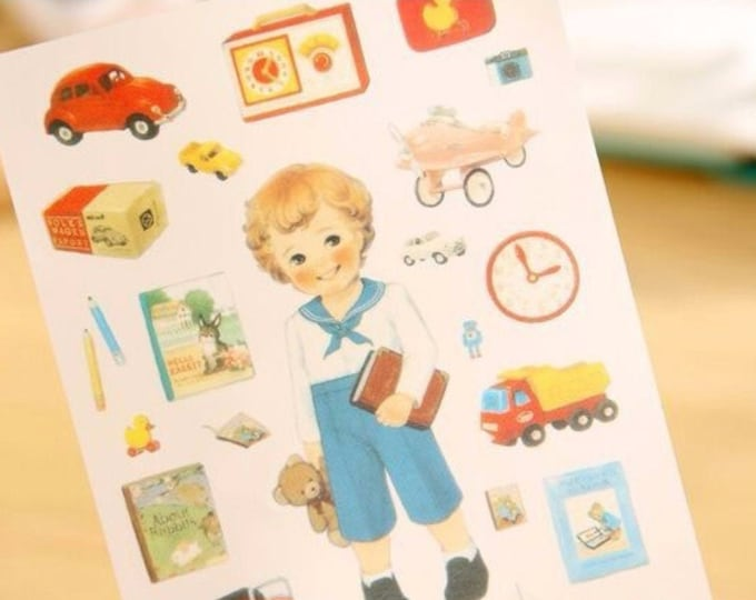 Paper doll stickers, 6 velletjes