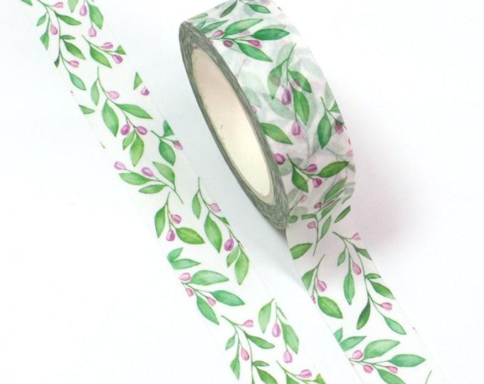 Washi tape met blaadjes en bloemetjes