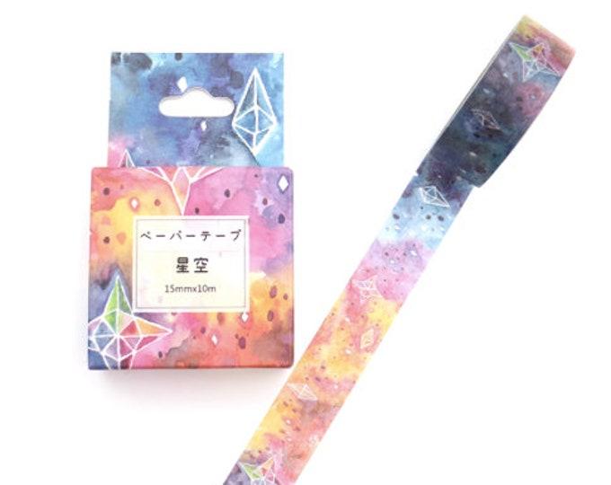 Blauwe washi tape met sterren