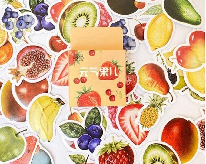 Fruit stickers, 46 stuks