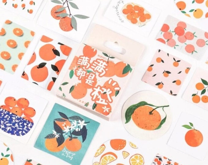 Sinaasappel stickers, 45 stuks