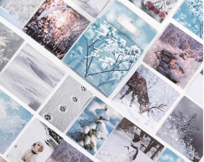 Winter stickers, 45 stuks