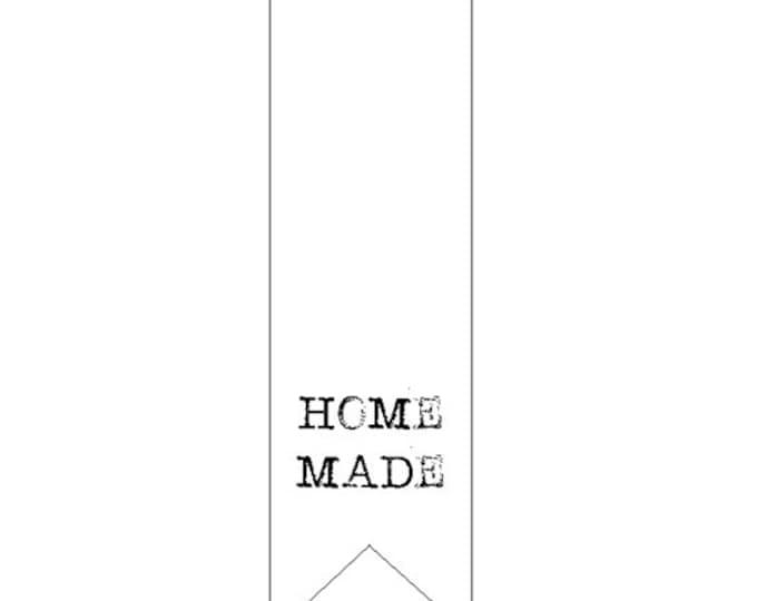 """Witte """"Home made"""" stickers, per 20 stuks."""
