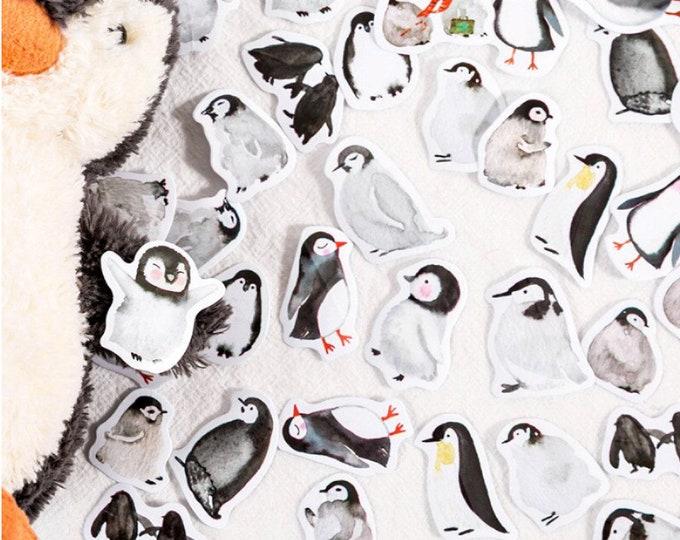 Pinguin stickers, 45 stuks
