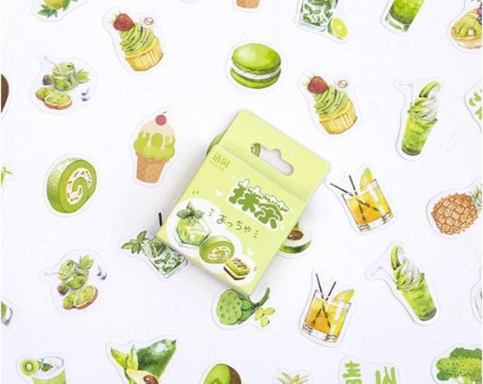 Groene taartjes stickers, 50 stuks