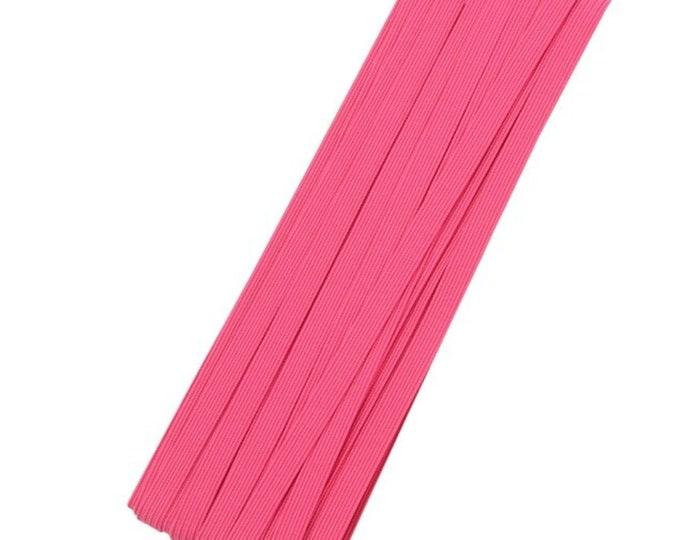 Roze elastiek, 6mm. Per 2 meter