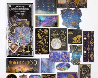 Sterren en maan stickers, 60 stuks