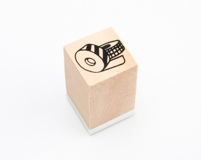 Kleine stempel met washi tape