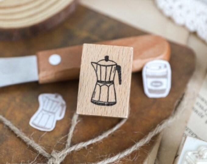 Kleine stempel met koffiepot