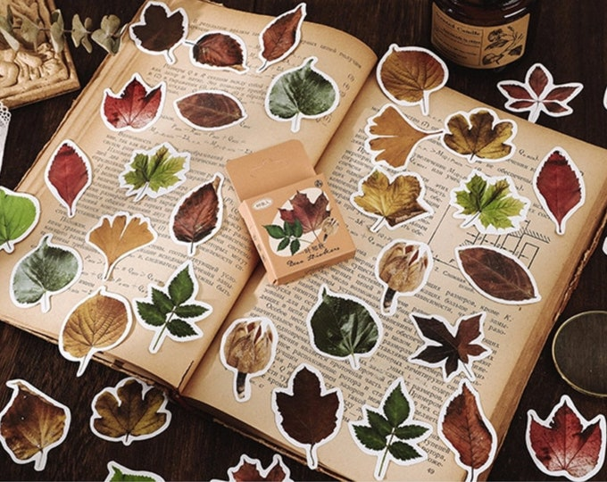 Blaadjes stickers, 46 stuks